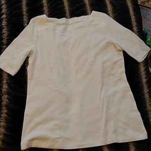 New Sophisticated Talbot's White Tee Sz Small
